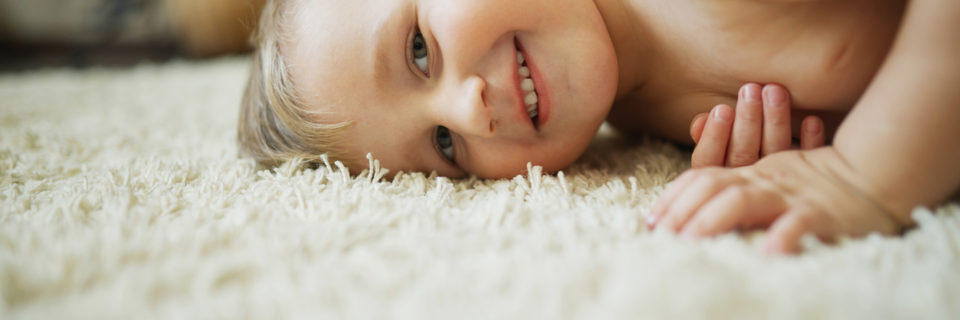 Natural cleaning solutions and fluffy fresh carpet